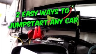 2 EASY WAYS HOW TO JUMPSTART CARS TRUCKS SAFELY