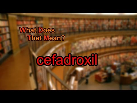 What does cefadroxil mean?