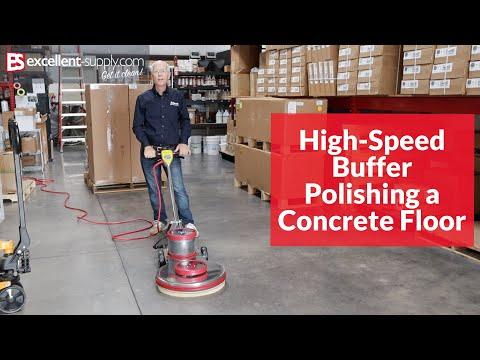 Mercury 1170 High-Speed Buffer Polishing A Concrete Floor