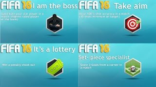 FIFA 16: Achievements  Take aim  , set piece specialist , it