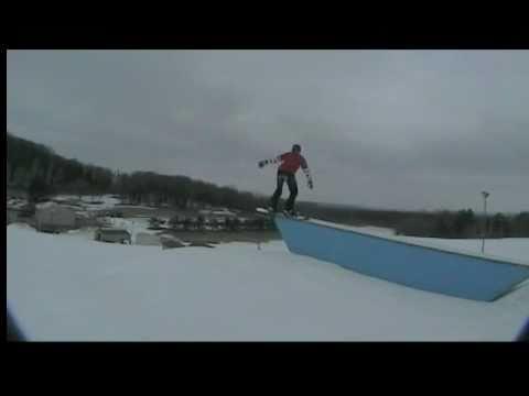 Fort McCoy snowboarding last day