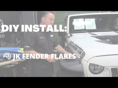 "DIY INSTALL: Jeep Wrangler JK Aluminum Fender Flares by Black Mountain (10"" & 12"" Wide for CA)"
