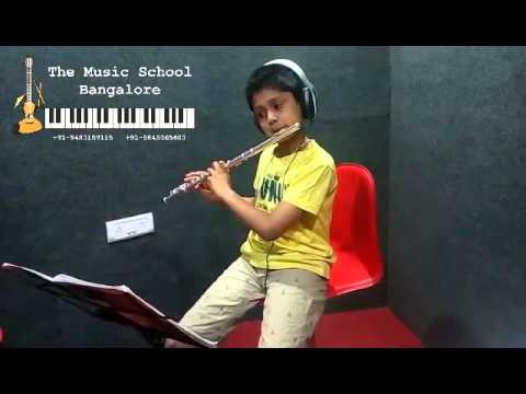 Shravan R  Holla - Greensleeves - Flute Cover - The Music School Bangalore
