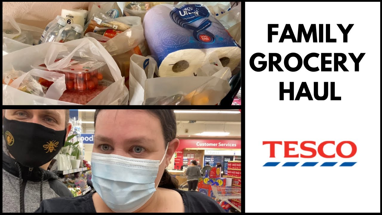 FAMILY GROCERY HAUL (AD) MAJOR SAVINGS WITH THE TESCO CLUBCARD PLUS.