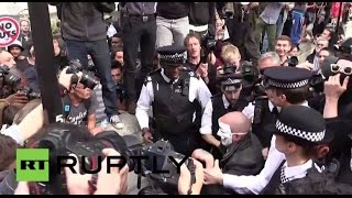 UK: Scuffles break out at London anti-austerity demo