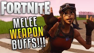 "Fortnite Save The World Mise à jour 4.4 Melee Buffs ""Fortnite Melee Weapons Buffed"" Fortnite Patch 4.4"