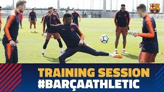 Last workout before the league match against Athletic