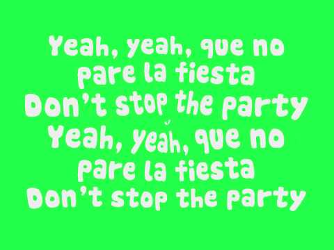 Pitbull - Don't Stop The Party (Lyrics On Screen) (New Song 2012) HD