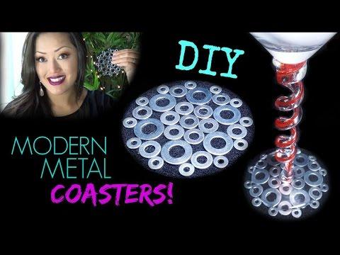 DIY: Modern Metal Coasters | Easy!