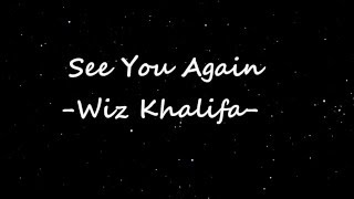 wiz khalifa see you again lyrics