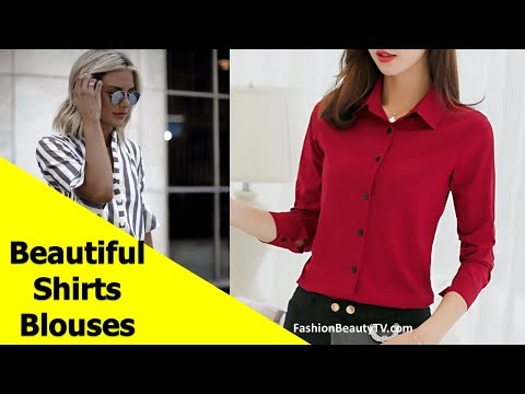 50 Beautiful Shirt And Blouse Designs For Women & Girls S1