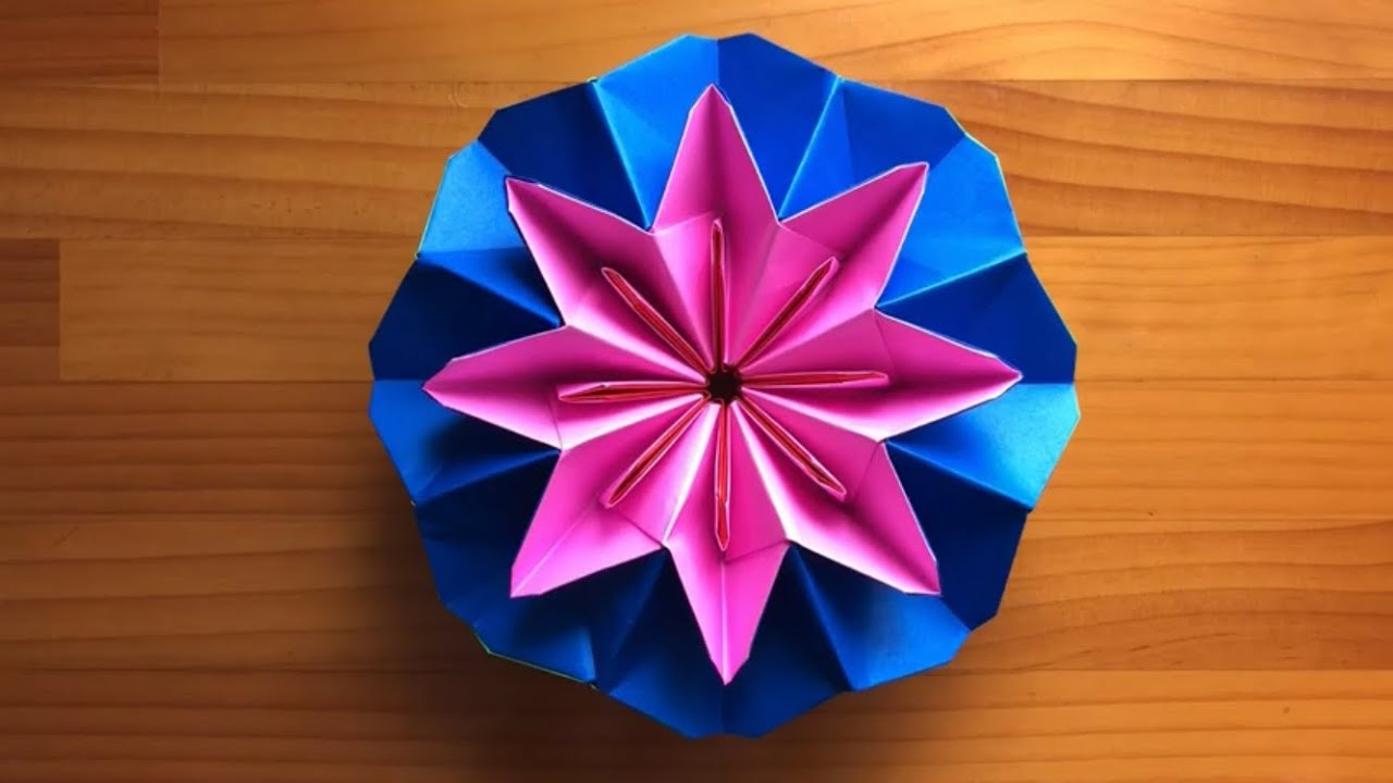 簡単 折り紙 万華鏡