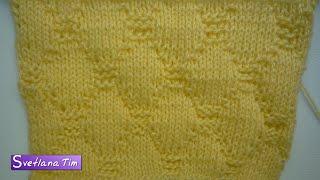 Видеоуроки вязания спицами # 182. Узоры для начинающих РОМБЫ