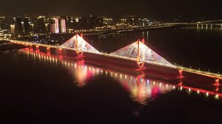 Wuhan light show honors heroes as COVID-19 lockdown ends