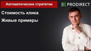 Автоматические стратегии Яндекс Директ  Живые примеры