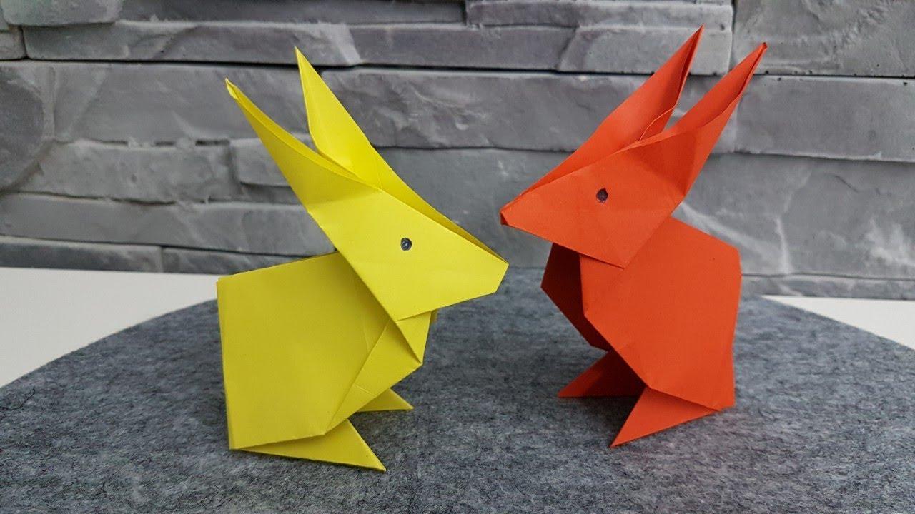 hase aus origami papier falten diy osterdeko 2018 basteln gestalten youtube. Black Bedroom Furniture Sets. Home Design Ideas