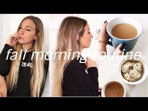FALL MORNING ROUTINE 2017 | weekend \ day off morning routi
