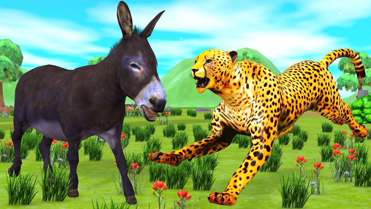 गधा और चीता कौन ज्यादा होशशयार है Hindi Kahaniya - Panchatantra Moral Stories - 3D Hindi Fairy Tales