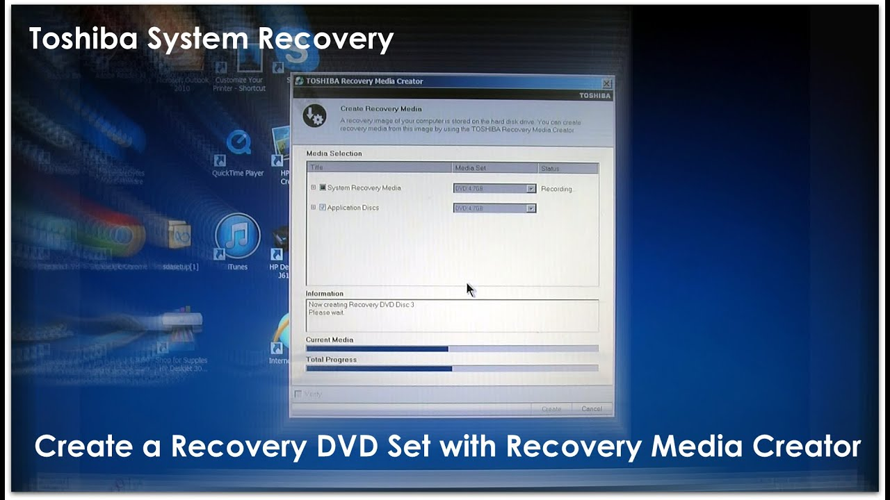 Toshiba recovery disk – guide for windows xp, vista, 7, 8.