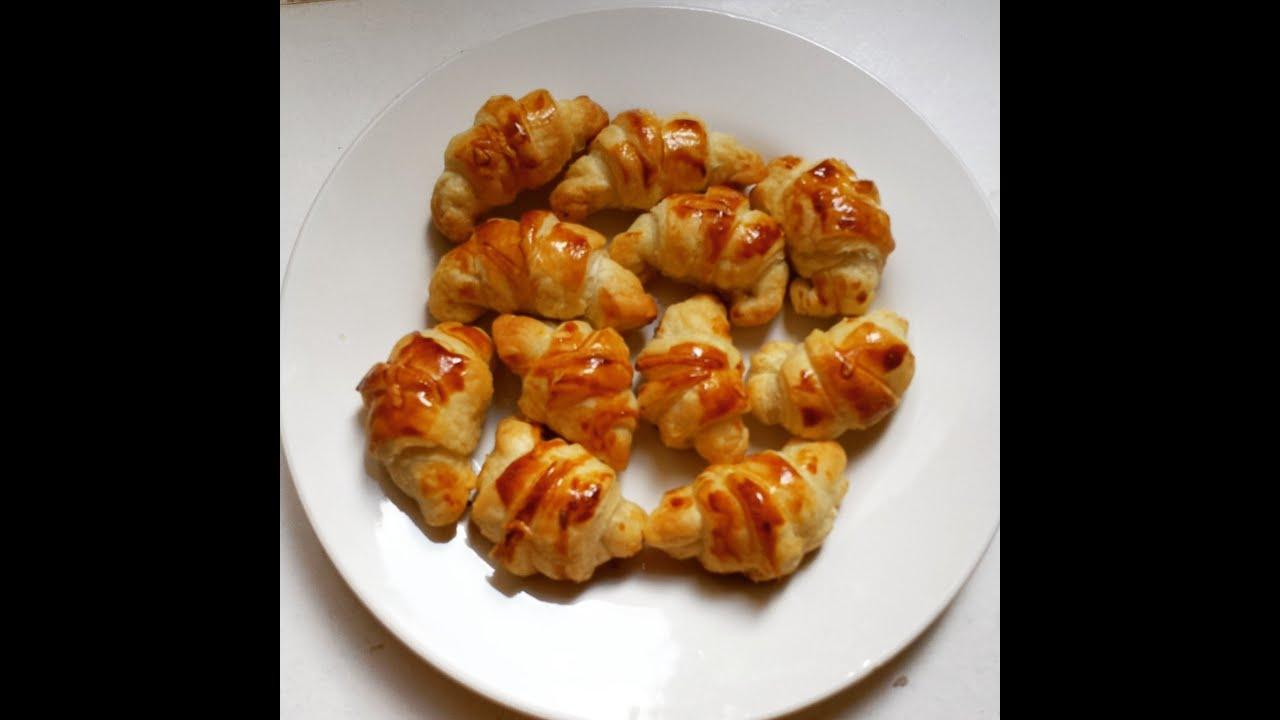1 Apéritif Croissants Salés Thon Fromage Youtube