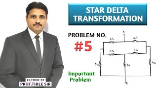HOW TO SOLVE STAR DELTA TRANSFORMATION PROBLEMS 5 IN BASIC ELECTRICAL  ENGINEERING