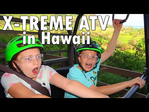 Don't Fall Out!! Wild ATV Ride at Kualoa Ranch Hawaii || Mommy Monday