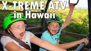Don't Fall Out!! Wild ATV Ride at Kualoa Ranch Hawaii || Mommy Monday