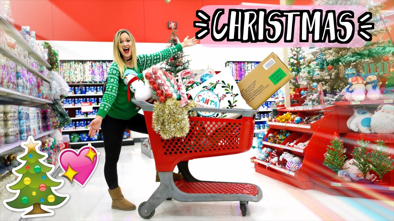 Christmas Shopping At Target Alishamarievlogs Youtube