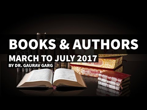 Books & Authors - March to July 2017 - Current Affairs