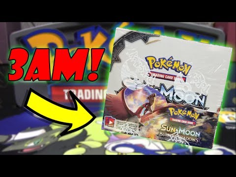 CREEPY BURNING SHADOWS BOOSTER BOX APPEARS AT 3AM!!! HAUNTED POKEMON CARDS???