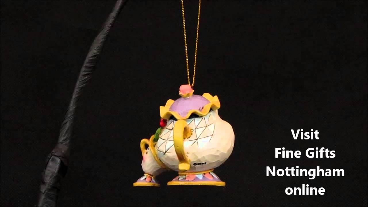 Mrs potts chip christmas decoration - Disney Traditions Mrs Potts Chip Hanging Ornament Jim Shore Christmas A21431