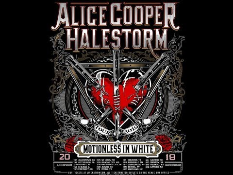 Alice Cooper announces tour with Halestorm and Motionless In White ..!