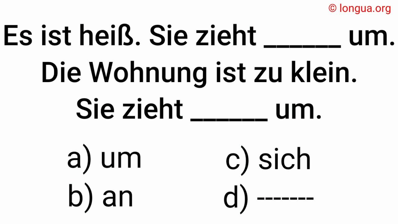 sich umziehen, anziehen, ausziehen, um, an, sich, --, Wohnung, change, German vocabulary, grammar