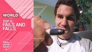Roger Federer FAIL and more! | Top 5 Sporting FAILS | Trans World Sport