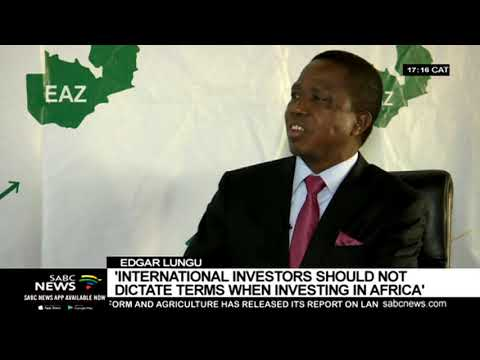 Pres. Lungu says the West should not dictate terms when engaging Africa on trade