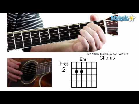 """How to Play """"My Happy Ending"""" by Avril Lavigne on Guitar"""