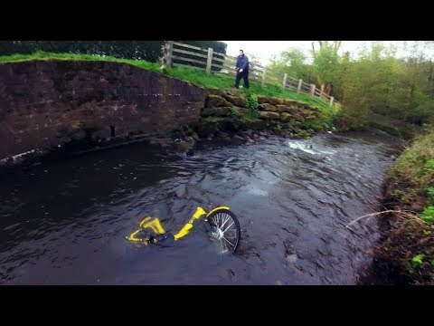 Rescuing An Ofo Bike From The River Sheaf