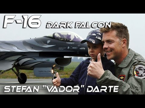 "4K UHD F-16 Belgian  Solo Display Pilot Stefan""Vador""Darte  with Dark Falcon at Florennes 2018"