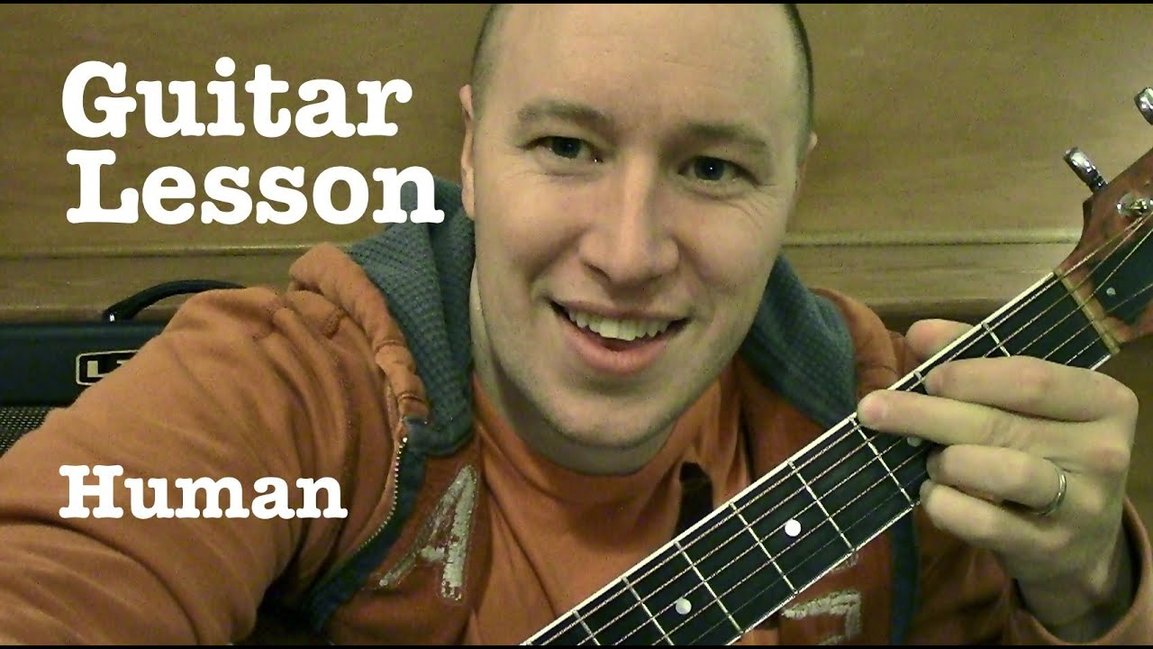Human Guitar Lesson Tutorial Christina Perri Youtube