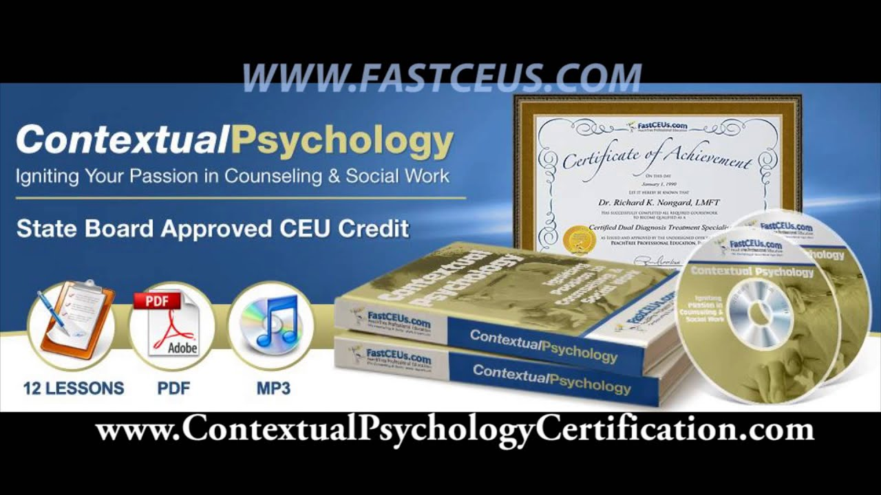 Contextual Psychology Certification Approved Nbcc Lpc And Social