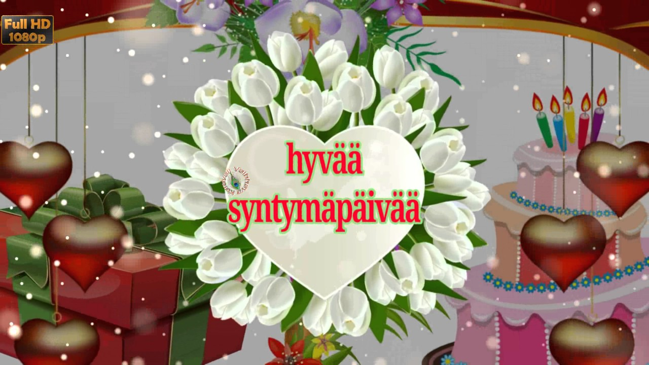 Birthday Wishes In Finnish Greetings Messages Ecard Animation
