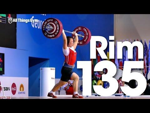 Rim Un Sim (63kg, North Korea) 135kg Clean and Jerk 2016 Junior World Weightlifting Championships