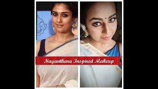 தமிழில்: Nayanthara  inspired makeup Tutorial    nivehairandmakeup
