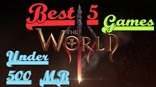 Best 2018 Android Games under 500 MB with Download links.