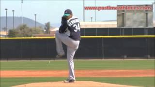felix hernandez slow motion baseball pitching mechanics mariners pitcher tips drills mlb