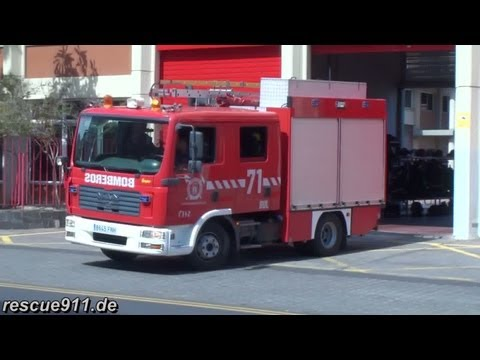 Fire dept Tenerife // Bomberos de Tenerife Parque Santa Cruz