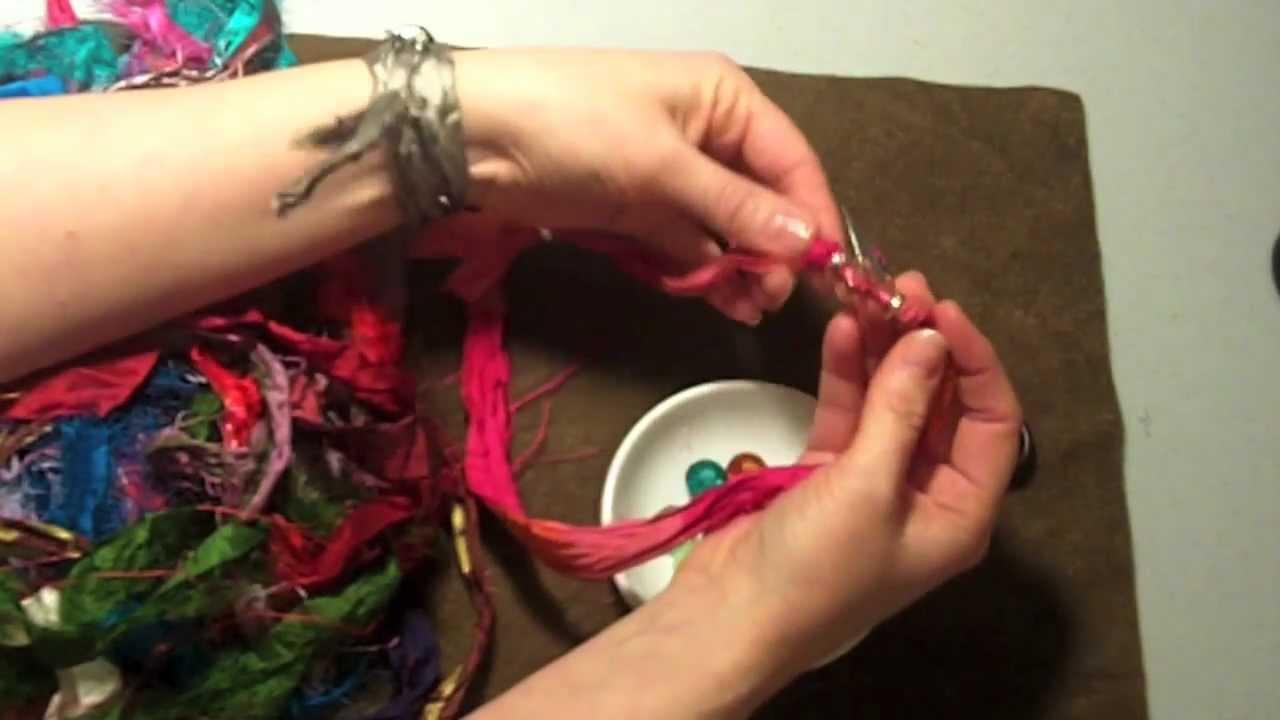 How To Make A Beaded Silk Wrap Bracelet