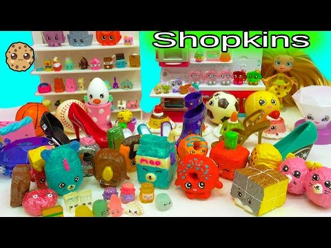 All My Do It Yourself DIY Custom Painted , Handmade Craft , Squishy, & Fail Shopkins Collection