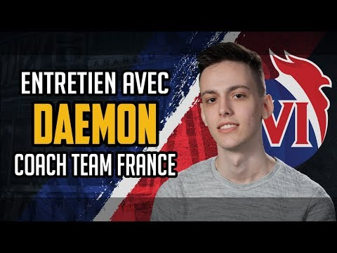 with daemoN, the coach of the French Overwatch Team 2018