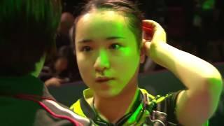 チームワールドカップ2018 女子決勝 日本ー中国 第3試合 伊藤美誠vs丁寧